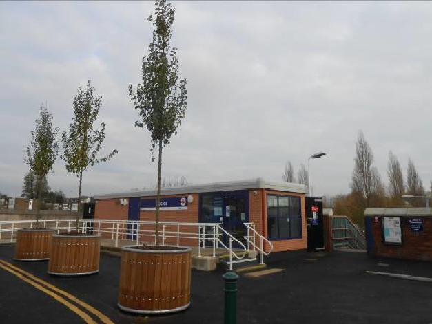 Eccles station forecourt