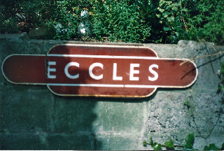 Eccles Station sign