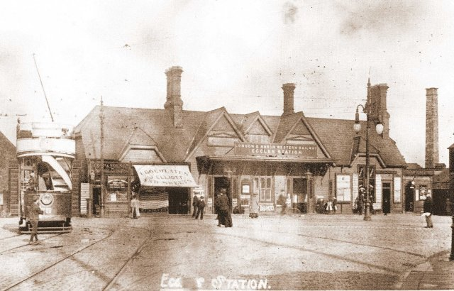 Eccles Station in 1900
